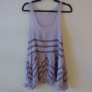 Free People XS lilac Voile&Lace Trapeze slip